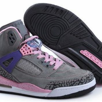 Hot Nike Air Jordan 3.5 Spizike Suede Women Shoes Purple Earth