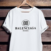 """balenciaga""Hot letters print T-shirt top"