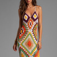 Indah Syra Crochet Maxi Dress in Gold Mix from REVOLVEclothing.com