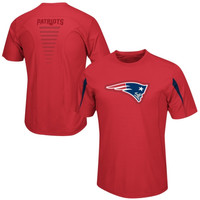 New England Patriots Majestic Big & Tall Fanfare VII Synthetic Cool Base T-Shirt – Red