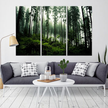 93051 - Forest Wall Art- Autumn Canvas Print- Forest Canvas- Forest Canvas Art- National Art Print- Canvas Print- Large Wall Art-
