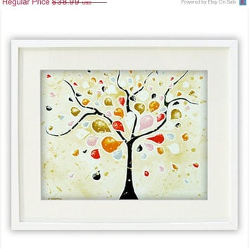 Tree of Life Giclee Print - Abstract Tree Modern Art Landscape Wall Art Poster Art Print 13x18 Signed