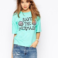 Worn By Save The Mermaids Wide Sleeve T-Shirt