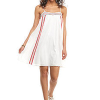 Red Camel® Embroidered Panel Slip Dress