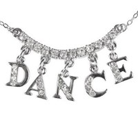 "Rhinestone ""DANCE"" Charm Necklace,2736A,multi-colored,One-Size"