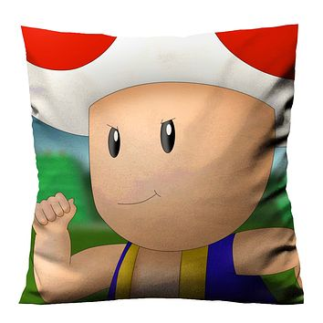 SUPER MARIO TOAD Cushion Case Cover