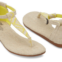 YELLOW BURLAP WOMEN'S PLAYA SANDALS