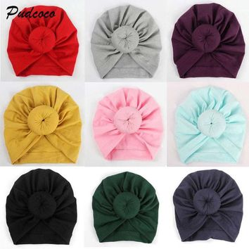 Baby Hat Newborn Infant Baby Girl 12 Colors Soft Cotton Bow Knit Hospital Cap Warm Beanie Hat Hot