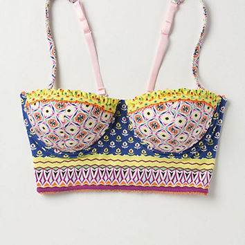 Mixed Prints Longline Bra