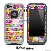 Colorful Abstract Stacked Triangles Skin for the iPhone 5 or 4/4s LifeProof Case