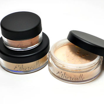 Mineral Powder Set - Pearlblend Foundation, Primer/Finishing Veil, and Mini Blush (SAVE 20%)
