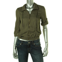 American Rag Womens Panel Stretch Cropped Jacket