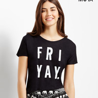 Aeropostale  Sheer Fri Yay Tie-Back Crop Top