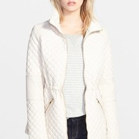 Women's GUESS Drawcord Waist Quilted Jacket