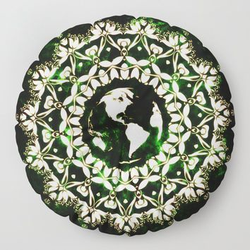 Earth Spirit Floor Pillow by inspiredimages