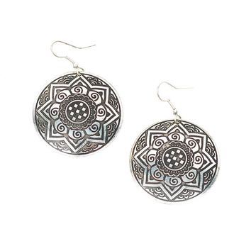 Sun Medallion Earrings - Fair Trade