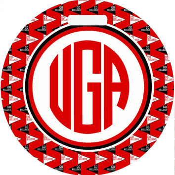 University of Georgia Personalized Luggage Tag. Gift for the UGA Dawgs fan! Perfect on a suitcase or a diaper bag! 2 backgrounds. Monogramed