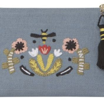 Frida Embroidered Cosmetic Bag | Small