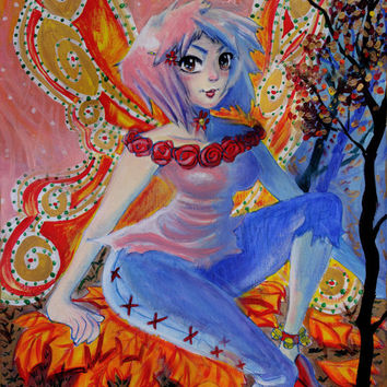 Autumn Fairy Painting