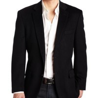 Haspel Men's Conner Sport Coat, Black, 46-Regular