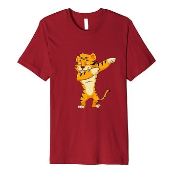 Tiger Print Shirt Funny Cute Dabbing Dab Dance Tiger T Shirt