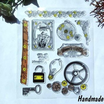 Memories Transparent Clear Silicone Stamp/Seal for DIY Scrapbooking/Photo Album Decorative Rubber Standard Stamp sheets