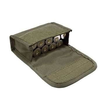 Tactical 10 Round Shotgun Shotshell Reload Holder Molle Pouch for 12 Gauge 20G Magazine Pouch Ammo Round Cartridge Holder