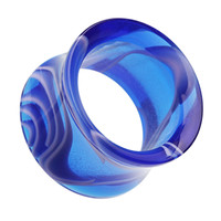 Marbled Swirl Acrylic Double Flared Ear Gauge Tunnel Plug