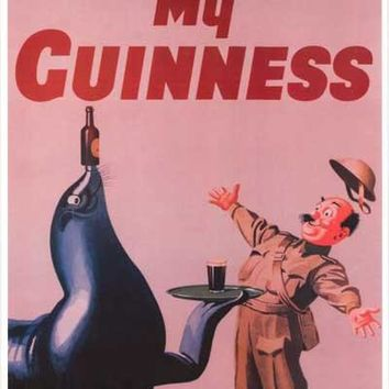 Guinness Beer My Goodness Seal Poster 12x18