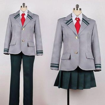 ESBON Boku no Hero Academia  Midoriya Izuku Bakugou Katsuki Gray My Hero Academia School Uniform Cosplay Costume