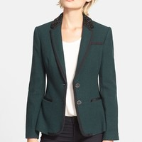 Women's Ted Baker London 'Nariana' Embellished Tweed Blazer