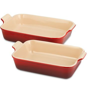 Le Creuset Heritage Stoneware Rectangular Bakers, Set of 2