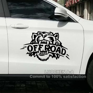 Car Stickers Tiger OFF ROAD SUV Creative Decals Cyter For doors Waterproof Auto Tuning Styling 4WD 4x4 25*16cm & 50*32cm  D20
