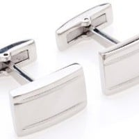 Classic Stainless Steel Cufflinks by Quality Stays