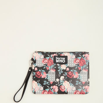 Floral Dr. Who Clutch