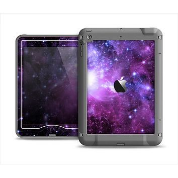 The Violet Glowing Nebula Apple iPad Air LifeProof Nuud Case Skin Set