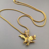 Shiny Gift Jewelry Stylish New Arrival Hot Sale Fashion Hip-hop Club Necklace [6542720771]