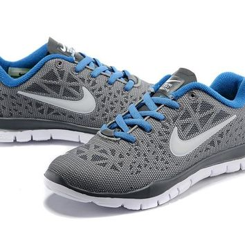 Women's/Youth's Nike Free TR FIT 3 Training Shoes Grey/White