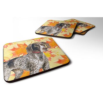 German Shorthaired Pointer Fall Foam Coaster Set of 4 BB9902FC