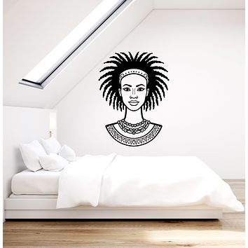 Vinyl Wall Decal African Woman Girl Ethnic Style Art Interior Room Stickers Mural (ig5951)