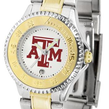 Texas A&M Aggies Competitor Ladies Two-Tone Watch