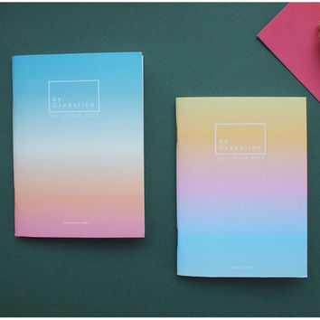Gradation small plain and lined notebook
