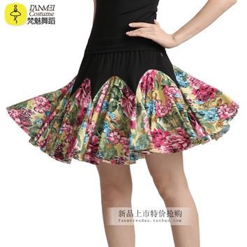 The summer dance pendulum new skirt adult Latin dancing game dance square dance clothes clothing