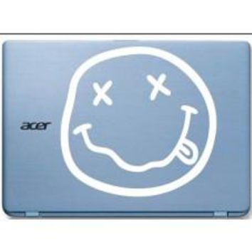 Nirvana Smiley Face Automobile Car Window Decal Tablet PC Sticker Automobile Window Wall Laptop Notebook Etc.