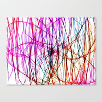 PIXEL RAINBOW Stretched Canvas by Chrisb Marquez