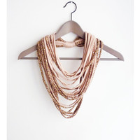 Leopard powder pink necklace neck ornament loop scarf infinity scarf round scarf ocelot cat