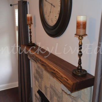 Custom Mantel- Live Edge Mantel- Hardwood Mantel- Wooden Mantel- Natural Edges- Fireplace Mantel- Home Improvement- Mantle Shelf- Reclaimed