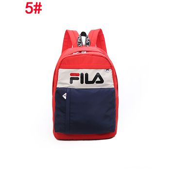 FILA Fashionable Edgy Simple School Backpack Travel Bag 5#
