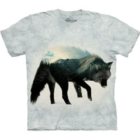 The Mountain ULV T-SHIRT Black Wolf Wild Wolves Adult Tee S-3XL