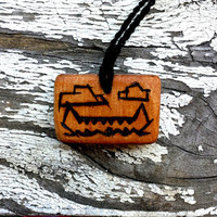 Natural Wooden Canoe Pendant Necklace | The Climbing Stone
